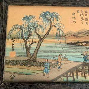 Vintage Wall Art - Vintage Japanese Woodblock Print Art